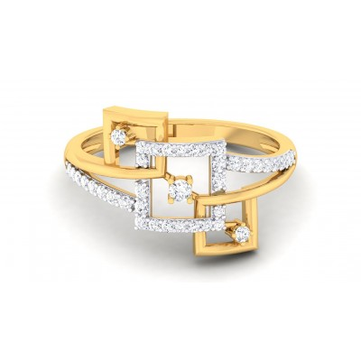 CORA DIAMOND COCKTAIL RING in 18K Gold
