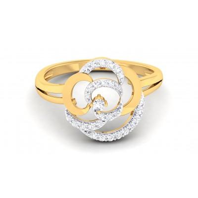 ARIANE DIAMOND COCKTAIL RING in 18K Gold