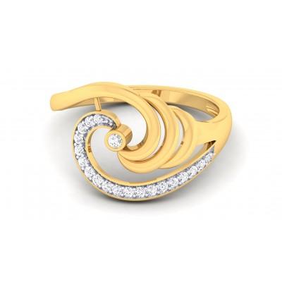 CELIA DIAMOND COCKTAIL RING in 18K Gold
