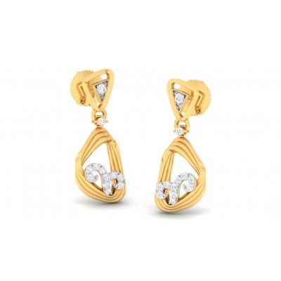 ALYSA DIAMOND DROPS EARRINGS in 18K Gold