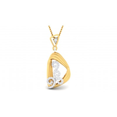 GAURI DIAMOND FASHION PENDANT in 18K Gold