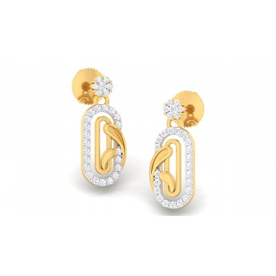 SELENA DIAMOND DROPS EARRINGS in 18K Gold