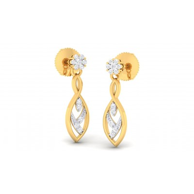 LEILANI DIAMOND DROPS EARRINGS in 18K Gold