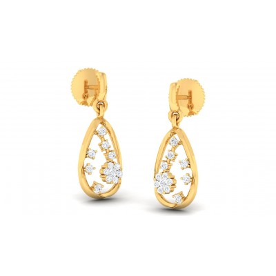 DAPHNE DIAMOND DROPS EARRINGS in 18K Gold