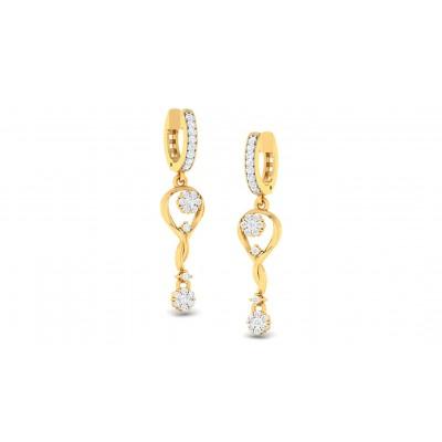 NITYA DIAMOND DROPS EARRINGS in 18K Gold