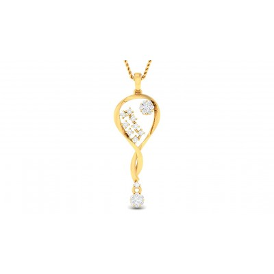 AMY DIAMOND FASHION PENDANT in 18K Gold