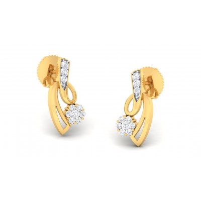 AMISHI DIAMOND STUDS EARRINGS in 18K Gold