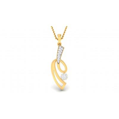 SAURA DIAMOND FASHION PENDANT in 18K Gold