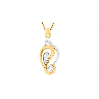 TERESA DIAMOND FASHION PENDANT in 18K Gold