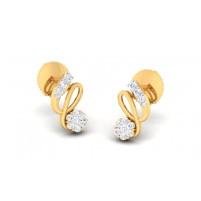 ANKITA DIAMOND STUDS EARRINGS in 18K Gold