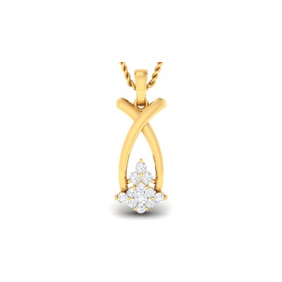 DENISE DIAMOND FASHION PENDANT in 18K Gold