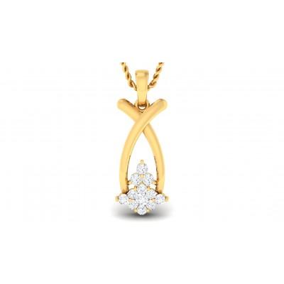 DENISE DIAMOND FASHION PENDANT in 18K Gold