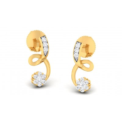 VRINDA DIAMOND STUDS EARRINGS in 18K Gold