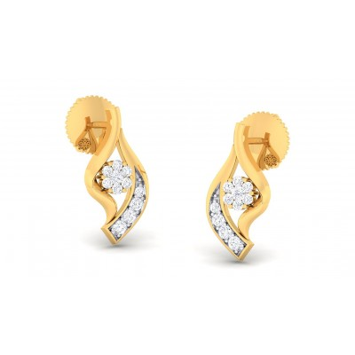VIPULA DIAMOND STUDS EARRINGS in 18K Gold