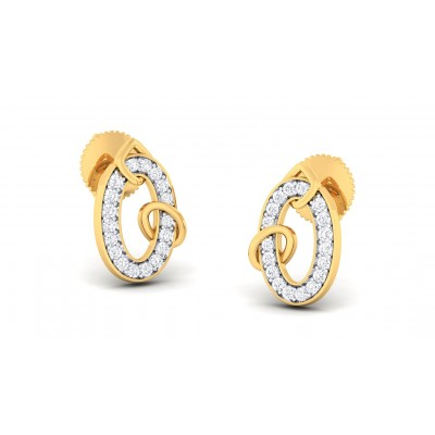 PAYAL DIAMOND STUDS EARRINGS in 18K Gold