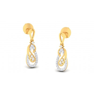 APEKSHA DIAMOND DROPS EARRINGS in 18K Gold