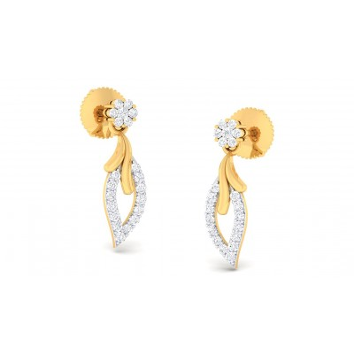 SMRITI DIAMOND DROPS EARRINGS in 18K Gold