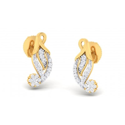 MEHA DIAMOND STUDS EARRINGS in 18K Gold