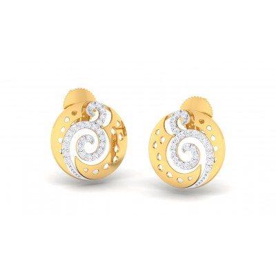 PRATIKA DIAMOND STUDS EARRINGS in 18K Gold