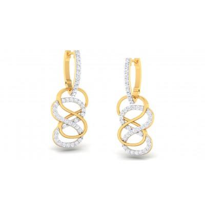 CALIYAH DIAMOND DROPS EARRINGS in 18K Gold