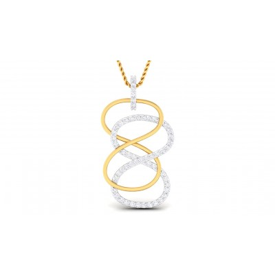 SUSAN DIAMOND FASHION PENDANT in 18K Gold