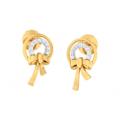 SRISHA DIAMOND STUDS EARRINGS in 18K Gold
