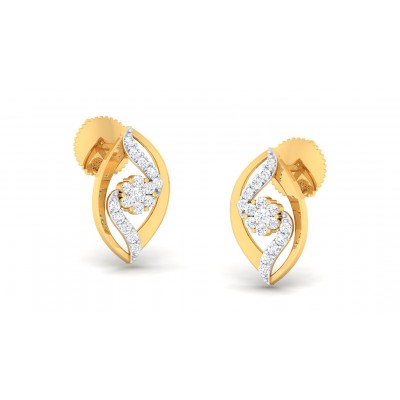 TYLER DIAMOND STUDS EARRINGS in 18K Gold