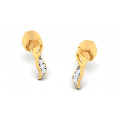LIAH DIAMOND STUDS EARRINGS in 18K Gold