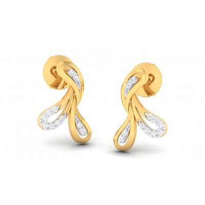 HARSIKA DIAMOND STUDS EARRINGS in 18K Gold
