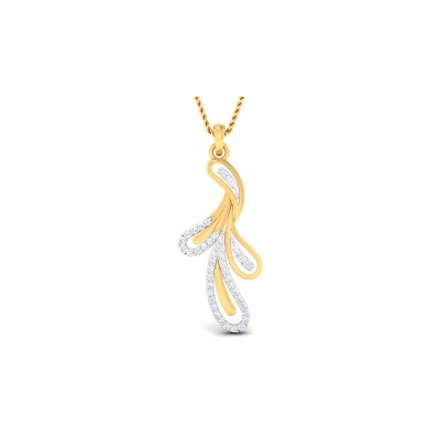 SHAYNA DIAMOND FLORAL PENDANT in 18K Gold