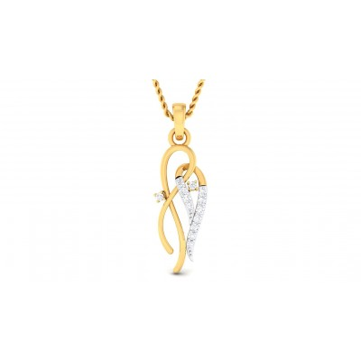 TARLA DIAMOND FASHION PENDANT in 18K Gold
