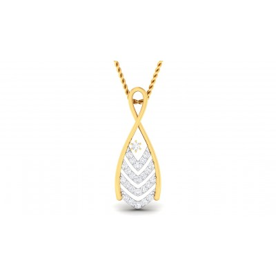 LIVIA DIAMOND FASHION PENDANT in 18K Gold