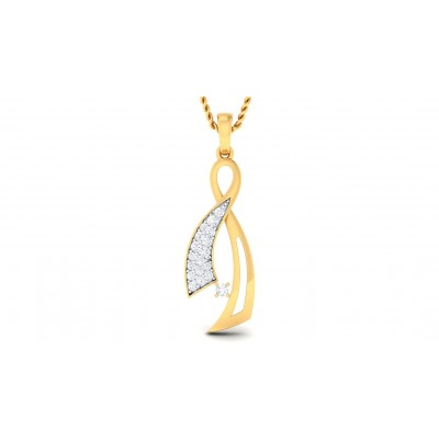 VASANTA DIAMOND FASHION PENDANT in 18K Gold