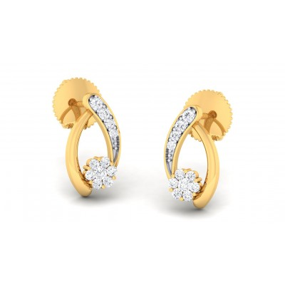 NIRJA DIAMOND STUDS EARRINGS in 18K Gold