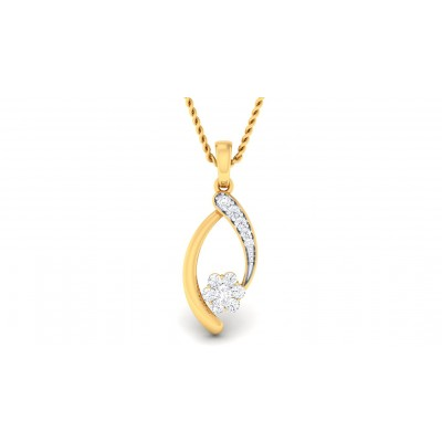 RIAN DIAMOND FASHION PENDANT in 18K Gold