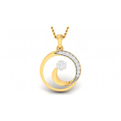 ANAVI DIAMOND FASHION PENDANT in 18K Gold