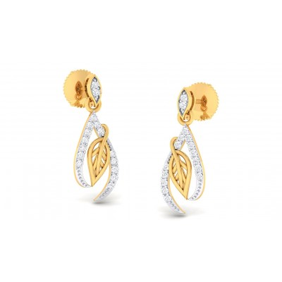 PARKER DIAMOND DROPS EARRINGS in 18K Gold