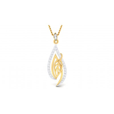 SAMAYA DIAMOND FLORAL PENDANT in 18K Gold