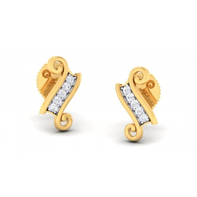LAILAH DIAMOND STUDS EARRINGS in 18K Gold