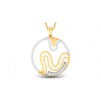 AZUL DIAMOND FASHION PENDANT in 18K Gold