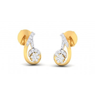 CHERISH DIAMOND STUDS EARRINGS in 18K Gold