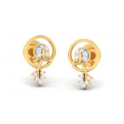 ZALAK DIAMOND STUDS EARRINGS in 18K Gold