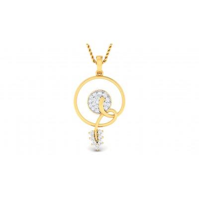 APSARA DIAMOND FLORAL PENDANT in 18K Gold