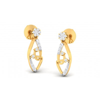 PRIYALA DIAMOND STUDS EARRINGS in 18K Gold