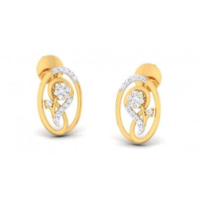 LAXMI DIAMOND STUDS EARRINGS in 18K Gold