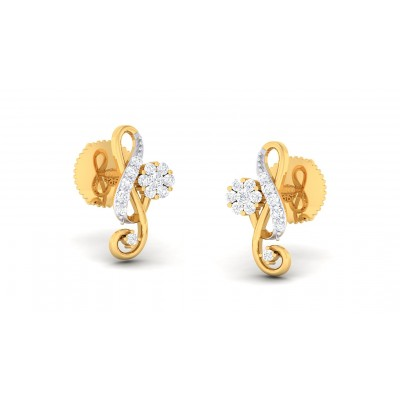 TABITHA DIAMOND STUDS EARRINGS in 18K Gold