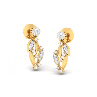 RAKA DIAMOND DROPS EARRINGS in 18K Gold