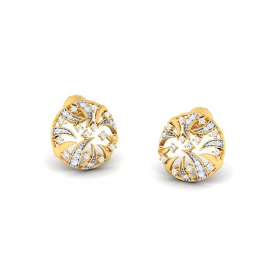 MENAKA DIAMOND STUDS EARRINGS in 18K Gold
