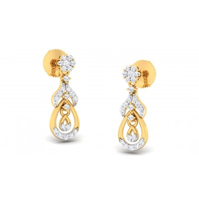 RAIN DIAMOND DROPS EARRINGS in 18K Gold