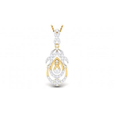 CRISTAL DIAMOND FASHION PENDANT in 18K Gold